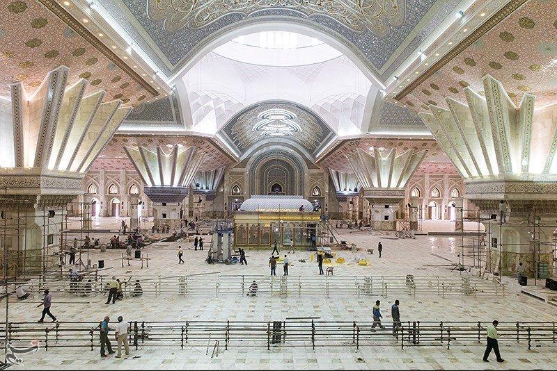 داخل بنای مقبره روحالله خمینی