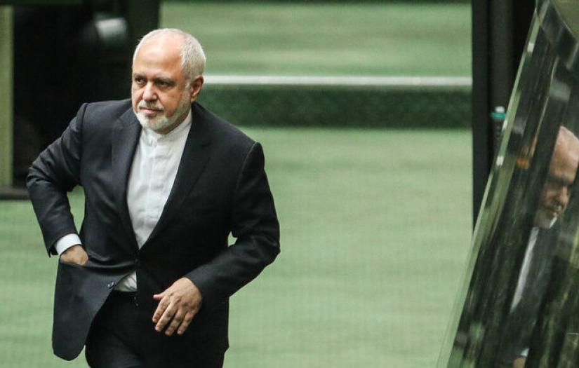 Iran's foreign minister Mohammad Javad Zarif in parliament. January 19, 2021