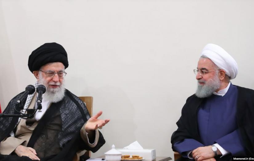 Supreme Leader Ali Khamenei and Hassan Rouhani. FILE PHOTO
