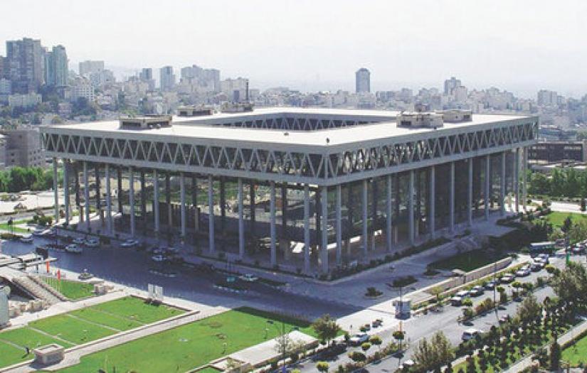 Iran's state TV headquarters in Tehran. FILE PHOTO