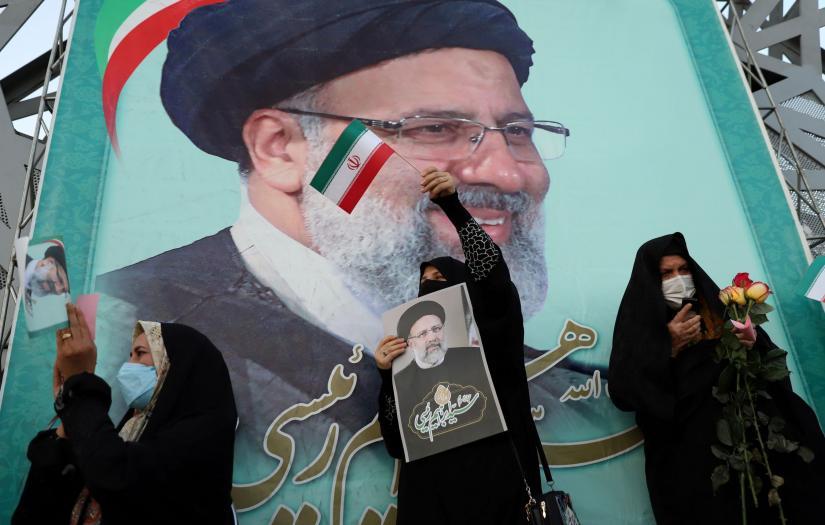 Supporters of Ebrahim Raeesi in Tehran. June 19, 2021