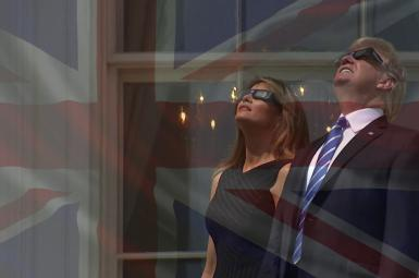 ورود ترامپ به انگلیس