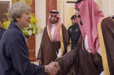 محمد بن سلمان، ولیعهد عربستان سعودی و ترزا می، نخستوزیر انگلستان