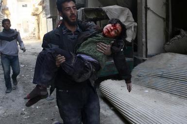 کشته شدن غیرنظامیان در غوطه شرقی در نزدیکی دمشق
