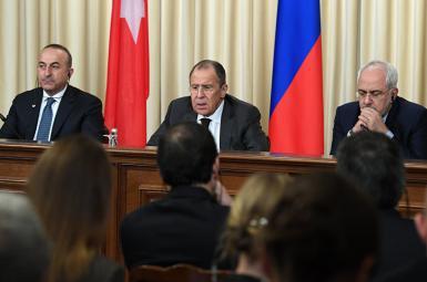ظریف در کنفرانس خبری نشست سهجانبه مسکو