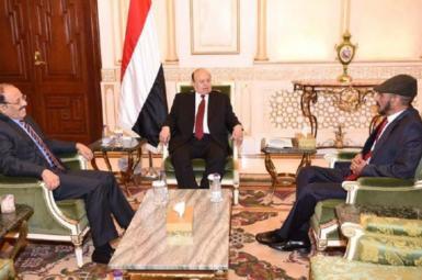 دیدار علی صالح الاحمر با عبدربه منصور هادی در ریاض