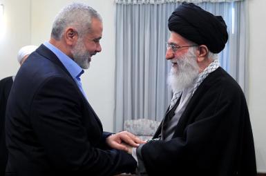 اسماعیل هنیه، رئیس دفتر سیاسی گروه حماس و آیتالله علی خامنهای