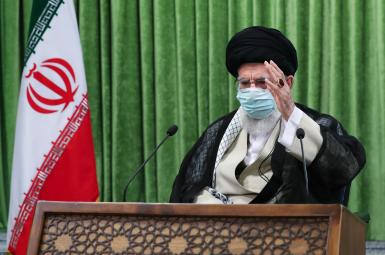 Iran's Supreme Leader Ali Khamenei delivering a speech. FILE