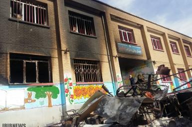 مدرسهی تخریبشده در منطقهی اسلامآباد ارومیه