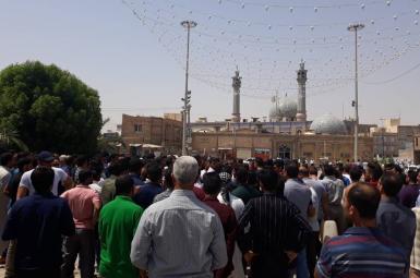 تجمع اعتراضی به وضعیت آب شرب در خرمشهر
