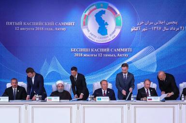 امضای کنوانسیون رژیم حقوقی دریای خزر ازسوی ۵ کشور حاشیه این دریا