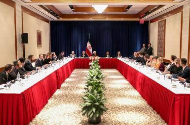 نشست روحانی با تعدادی از مدیران و خبرنگاران رسانههای آمریکایی