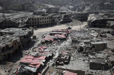 ویرانه های شهر موصل در عراق