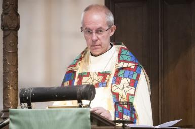 جاستین ولبی، اسقف اعظم کلیسای کانتربری در بریتانیا