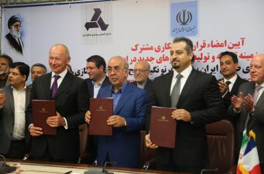 مضای قرارداد همکاری توسعه و تولید خودروهای جدید رنو در ایران،