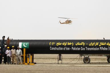 خط لوله انتقال گاز ایران به پاکستان و بعد هند در مرحله احداث