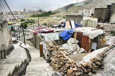 محله کپرنشین در نزدیکیهای تهران