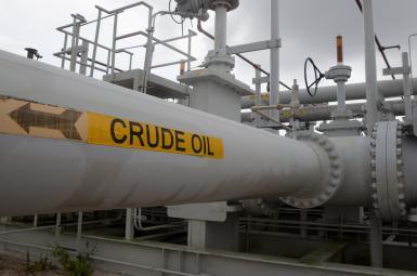 لولههای نفت خام در محل ذخیره استراتژیک آمریکا در تگزاس