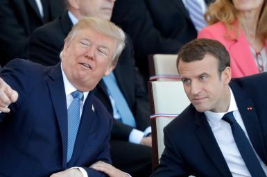 امانوئل مکرون رئیسجمهوری فرانسه و دونالد ترامپ