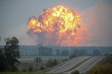 انفجار انبار مهمات در اوکراین