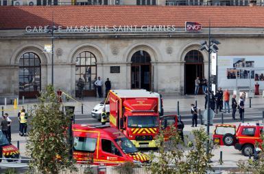 حمله تروریستی فرد مسلح به چاقو در یک ایستگاه مترو در مارسی فرانسه