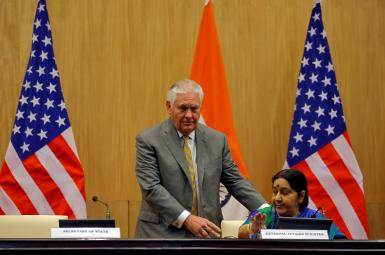 نشست خبری وزرای خارجهی آمریکا و هند