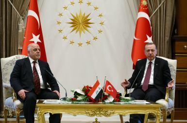 رجبطیب اردوغان، رئیسجمهوری ترکیه و حیدر العبادی، نخستوزیر عراق