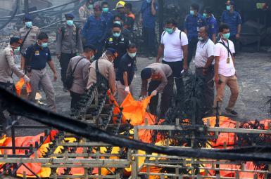 انفجار یک کارخانه در اندونزی، دستکم ۴۷ کشته و دهها زخمی برجای گذاشت