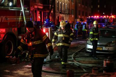 آتشسوزی در نیویورک
