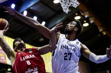 دیدار ایران و اردن در رقابتهای بسکتبال کاپ آسیا