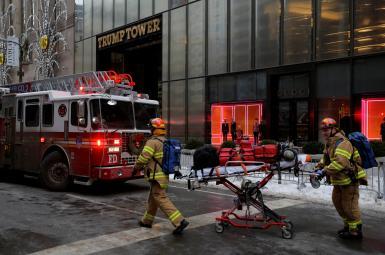 آتشسوزی در برج ترامپ در نیویورک