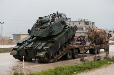 تانکهای ترکیه در مرز سوریه