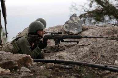 سربازان ترکیه در نزدیکی عفرین سوریه