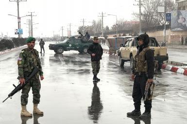 نیروهای نظامی مستقر در نزدیکی مدرسه نظامی مارشال فهیم در کابل
