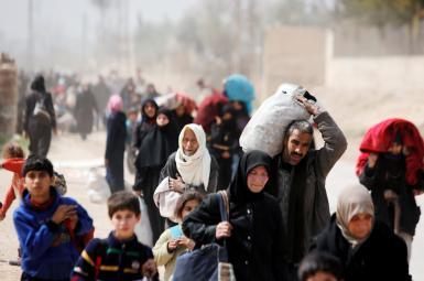 غیرنظامیان درحال فرار از غوطه شرقی