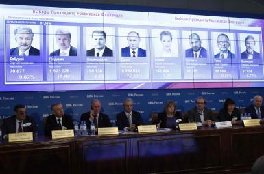 نشست خبری کمیته مرکزی انتخابات روسیه پس از پایان انتخابات