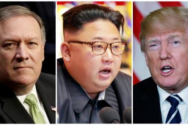 دونالد ترامپ،کیم جونگاون، مایک پومپئو