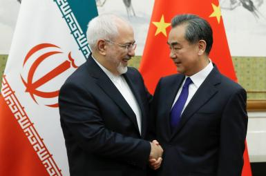 Iran's foreign minister Mohammad Javad Zarif meeting his Chinese counterpart. April 3, 2018