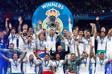 جشن قهرمانی تیم رئال مادرید