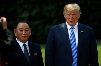 دیدار دونالد ترامپ و کیم یونگچول در کاخ سفید