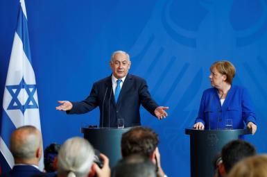 نشست خبری بنیامین نتانیاهو، نخستوزیر اسراییل و آنگلا مرکل، صدراعظم آلمان