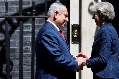 نتانیاهو در دیدار و گفتوگو با ترزا می، نخستوزیر بریتانیا