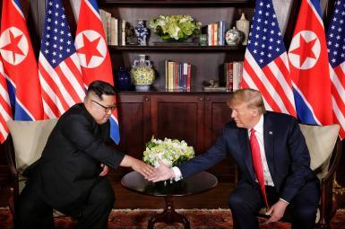 دیدار دونالد ترامپ، رییس جمهوری آمریکا و کیم جونگاون، رهبر کرهشمالی