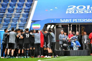 تمرین تیمملی فوتبال ایران در ورزشگاه سنپترزبورگ