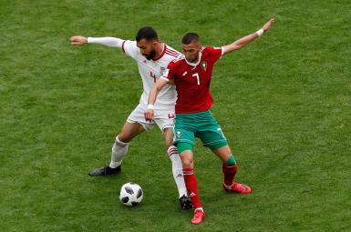 روزبه چشمی در بازی با مراکش