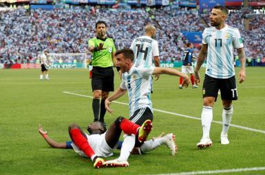 داوری علیرضا فغانی در رقابت تیمهای ملی فرانسه و آرژانتین