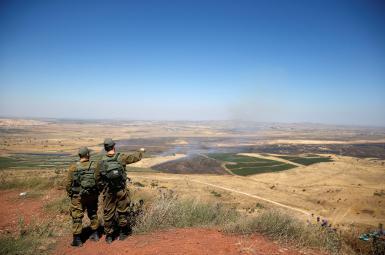 سربازان اسراییل در مرز سوریه (بلندیهای جولان)