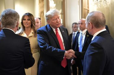 دیدار ترامپ و پوتین، رؤسای جمهوری آمریکا و روسیه در هلسینکی