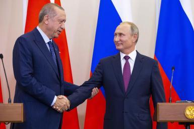 ولادیمیر پوتین، رییس جمهوری روسیه و رجبطیب اردوغان، رییس جمهوری ترکیه