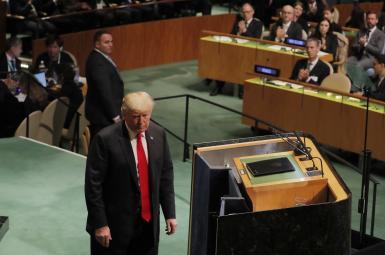 دونالد ترامپ، رییس جمهوری آمریکا، در نشست مجمععمومی سازمانملل
